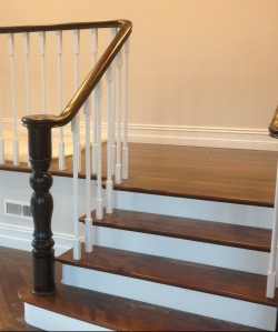 Timber Handrail, Turned Post & Painted Balustrades